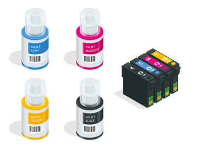 Ink cartridges PC and printer